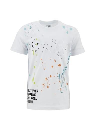 DeFacto Erkek Çocuk Baskılı 2'li Kısa Kol Tişört Beyaz